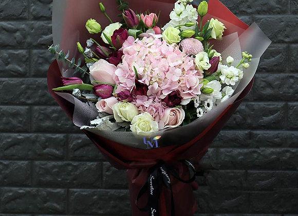 Rose Tulips Hydrangea Bouquet Set
