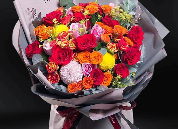 熱情玫瑰花束 Roses Bouquet with Passion