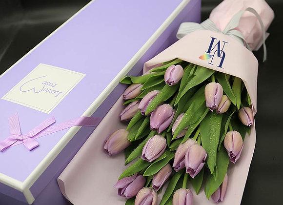 鬱金香粉紫色 盒裝 Tulips (Purple/Lilac) in Box