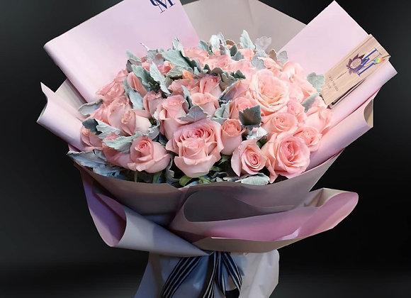 粉紅玫瑰花束 Roses in Pink