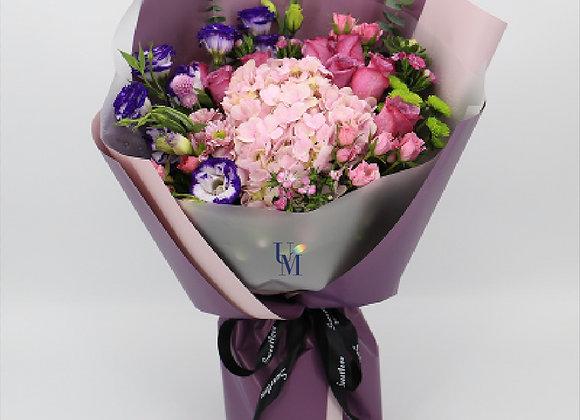 Roses Bouquet Elegant Purple
