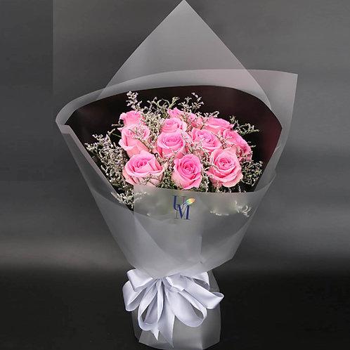 Roses Bouquet in Pink 12朵粉紅玫瑰 經典系列