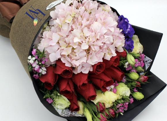 繡球玫瑰花束 Hydrangea Rose Bouquet Set
