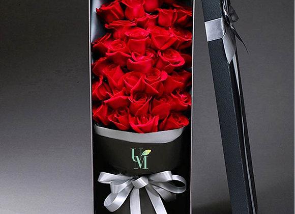 紅玫瑰禮盒裝 Red Roses in Box