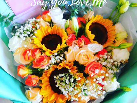 ♡請.你.說.愛.我♡羽美花藝為你送上新鮮大方花束及驚喜和愛意