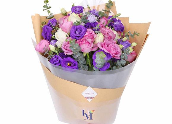 玫瑰桔梗花束 Rose Balloon Bouquet Set