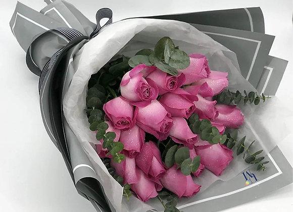 Fushia Roses Bouquet