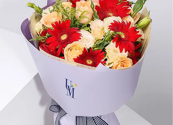 太陽花玫瑰花束 Sunflower Rose Bouquet Set