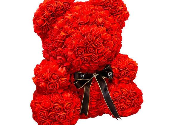 紅玫瑰熊(中) Teddy Rose Bear in Red  (Medium)