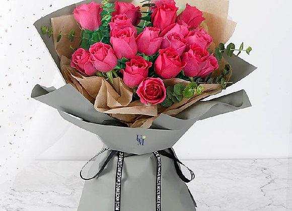 Roses Bouquet Fushia