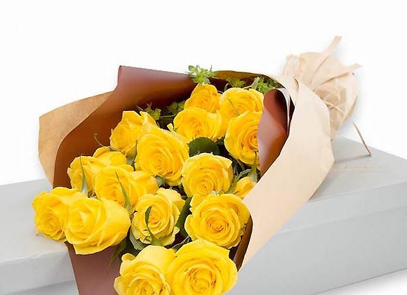 Roses Bouquet Lemon Yellow