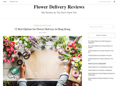One of the best florist shops in Hong Kong Award 獲評為香港最優秀花店之一