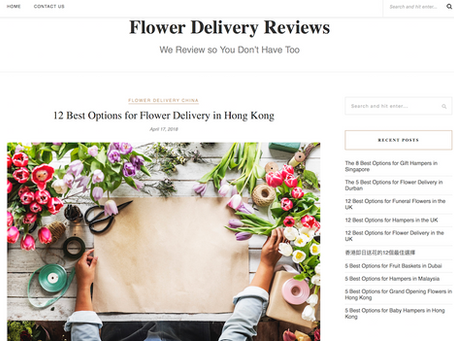 One of the best florist shops in Hong Kong Award 獲評為香港最優秀花店之一