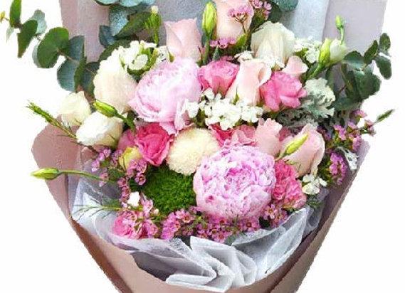 Roses Peony Bouquet Set