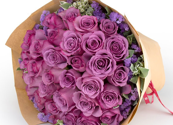 紫玫瑰花束 Purple Roses Bouquet