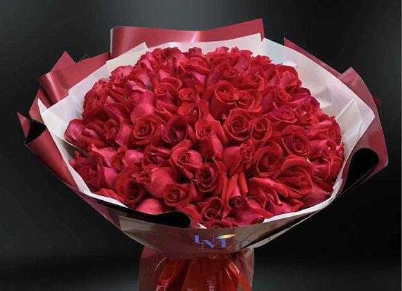 99 Rose Bouquet Red 99朵紅玫瑰花束