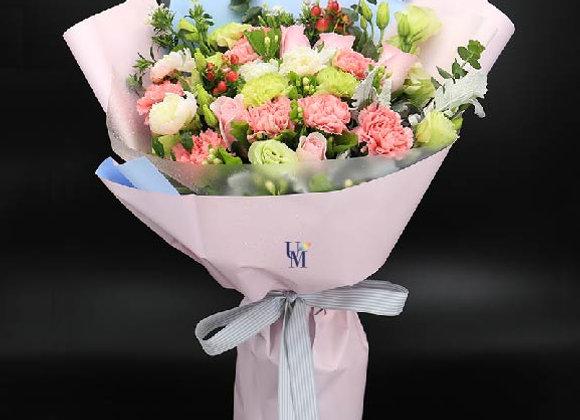 Roses Carnation Bouquet Set