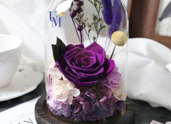 Preserved Flowers 永生花 保鮮花 紫色玫瑰系 purple/lilac / pink
