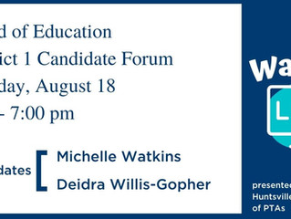 BOE District 1 Candidate Forum