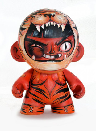 CUSTOM TIGER  WRESTLER MUNNY