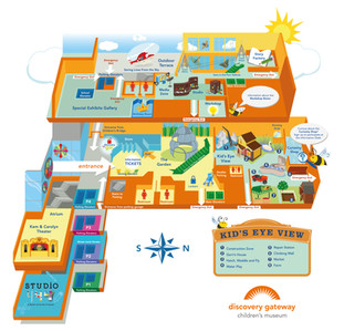 DISCOVERY GATEWAY CHILDREN'S MUSEUM MAP
