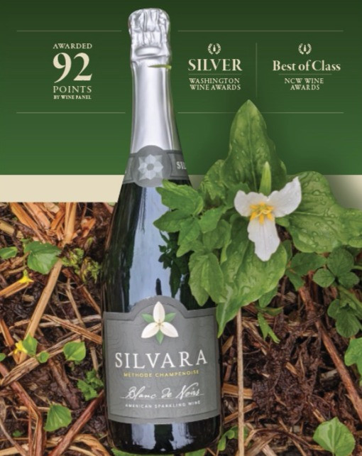 """""""One of the best Sparkling wines from the Northwest we've ever tried! !"""" -David LeClaire, Tracey LaPierre, Shelly Fitzgerald, & Christopher Gronbeck -The Wine Panel"""