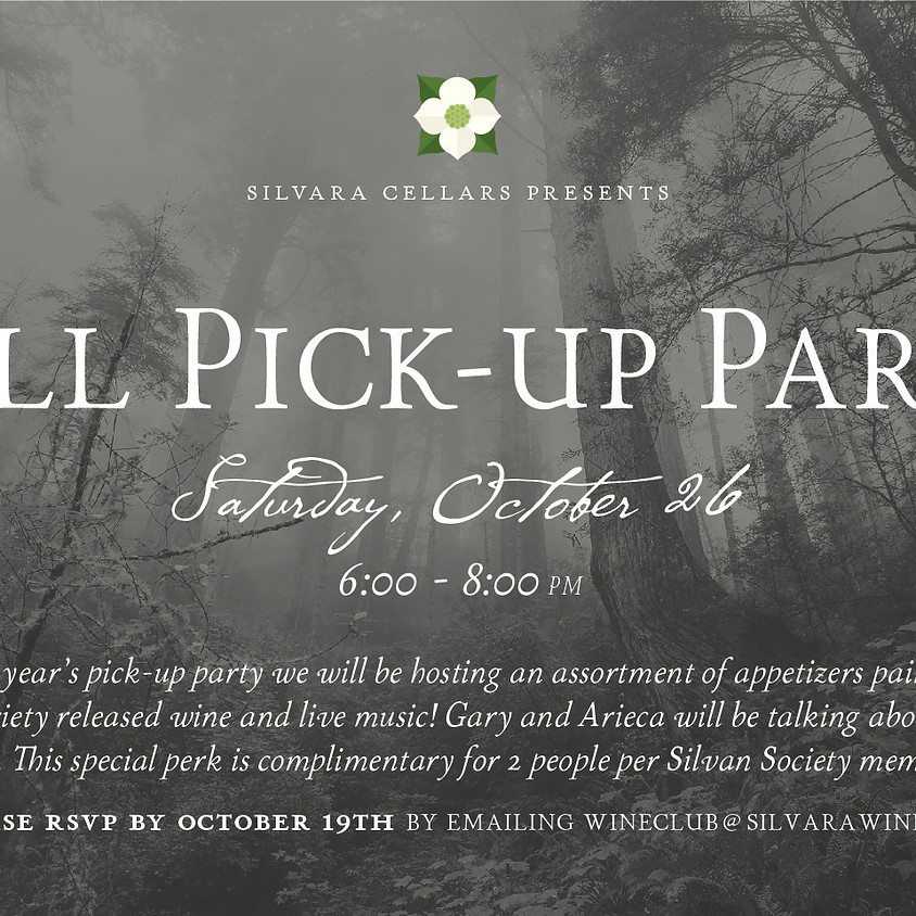 Wine Club Fall Pick-Up Party