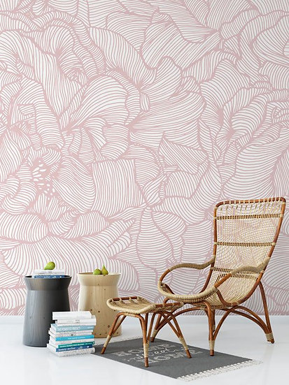 'Peony Frill' Mural by Emily Ziz for their Opening Lines collection