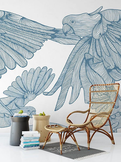 'Plumage' Mural by Emily Ziz from their Opening Lines collection