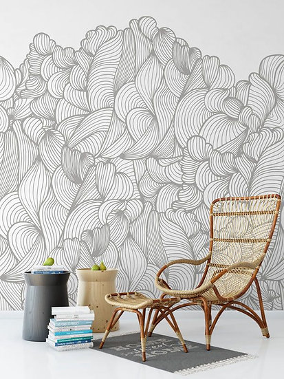 'Clouds' Mural by Emily Ziz from their Opening Lines collection