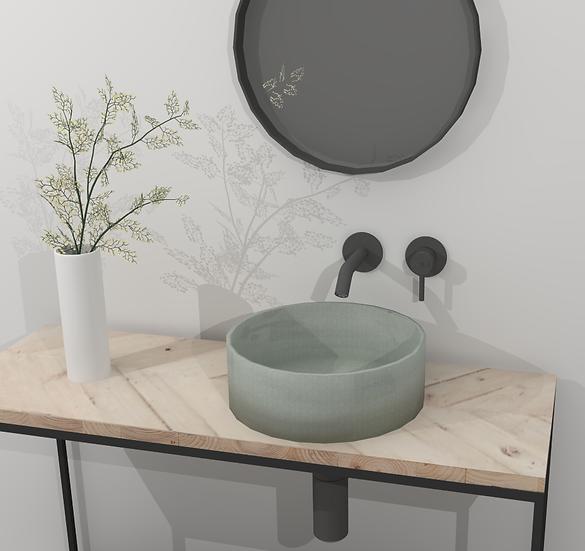 Handmade ceramic basin, made in australia by Brett Niven. Bathroom ideas 2019, bathroom products australia, bathroom vanity