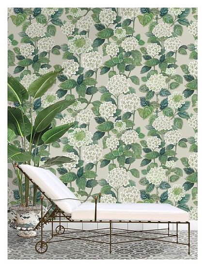 'Hydrangea Allover' by Emily Ziz from their Secret Garden Collection
