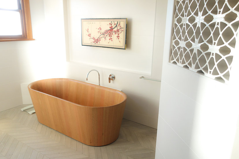 timber free standing bath, wooden freestanding bath, bathroom ideas 2019, bathroom designs 2019, bathroom products australia
