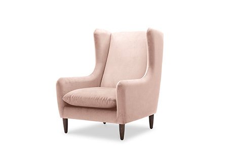 velvet armchair, pink armchair, boho-chic, buy chairs online, molmic sofa, living room ideas, room inspiration
