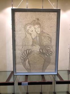 Fides Linien's artwork 'Fusion' at 'Art Connects Women' Exhibition, Dubai, 2020