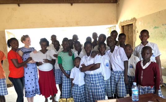 'Fancy Pads' Do-it-Yourself course in a school for deaf children in Eastern Uganda.