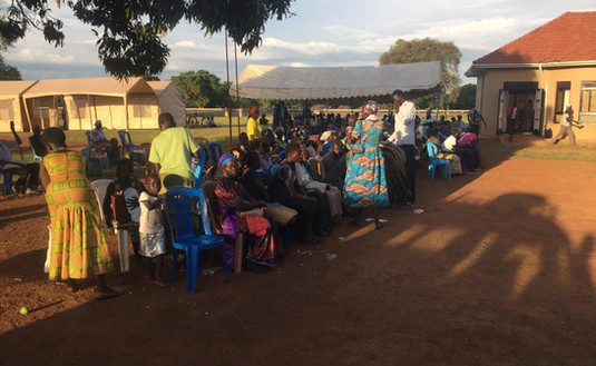 The crowds at the mobile medical camps always seem endlessly long and the duration of the camps, even at an average of four days at ago, too short, but the people always bring with them a lot of patience.