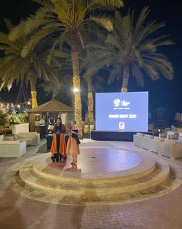 Curator and Art Activist Zaahirah Muthy and Fides Linien at 'Art Connects Women' Award Night, Dubai, 2020