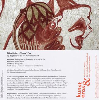 'Venus' Flor', Solo Exhibition at Gallery 'Kunst und Eros', Dresden, 2018