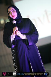 Her Highness Sheika Hend Faisal Al-Quasimi at 'Art Connects Women' Fashion Show, Dubai 2020