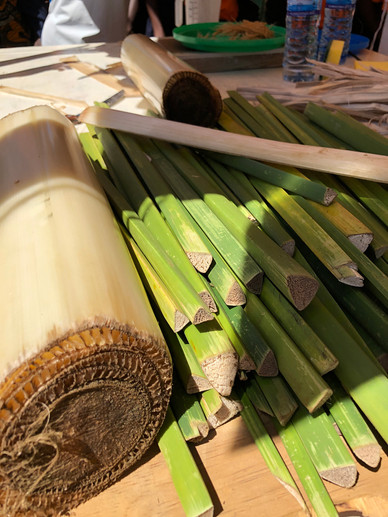 Banana and papyrus fibres - raw materials for 'Fancy Pads'