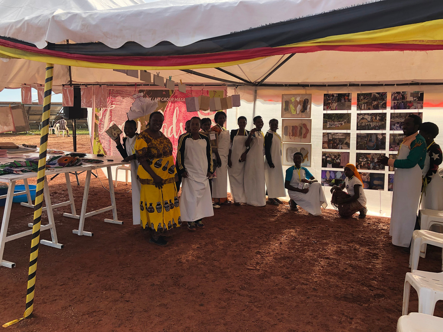 'Fancy Pads' Exhibition during the Commissioning of The Xsabo Group's Solar Power Plant in Kabulasoke (Central Uganda) by Uganda's President Yoweri K. Museveni in 2019