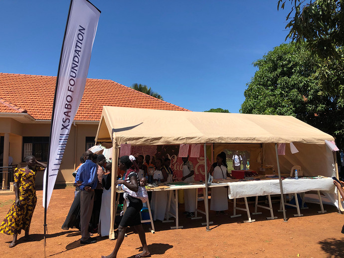 Mobile Medical Camp in Atiak (Northern Uganda) - 'Fancy Pads' is an Initiative of The Xsabo Foundation