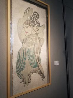 Fides Linien's artwork 'Gaia' at 'Paper Art Biennale Shanghai', 2019