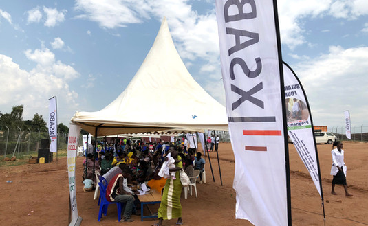 The Xsabo Foundation has sponsored Medical Camps in rural areas, especially for our host communities like here in Kabulasoke.