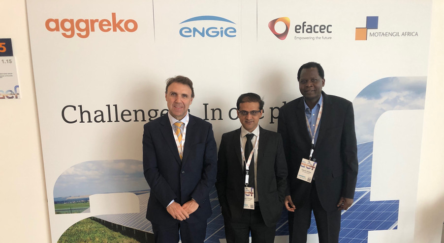 (Left to right): José Luís Moya (President, RiC Energy Group), Rajesh Chugh (RiC Energy Africa) and Xsabo's Dr. Alobo at the Africa Energy Forum in Lisbon (Portugal).