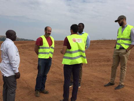Staff at the construction site of one of Xsabo's high profile projects.