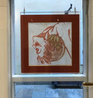 Fides Linien's artwork 'Musa Carmina' at Gallery 'Kunst und Eros', Dresden, 2018