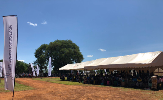 Over 2,500 people, some of whom came from as far as the neighbouring Republic of South Sudan, benefitted from the Mobile Medical Camp in Atiak which lasted three days.