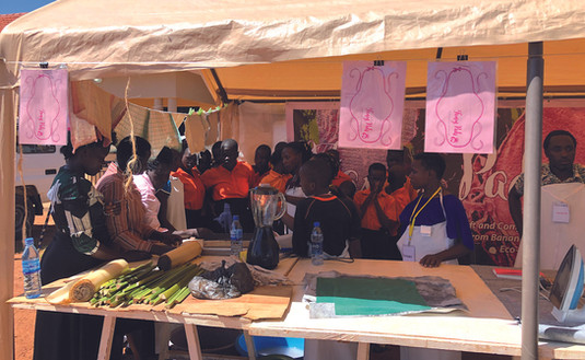 The 'Fancy Pads' tent at the Moblie Medical Camp in Atiak.